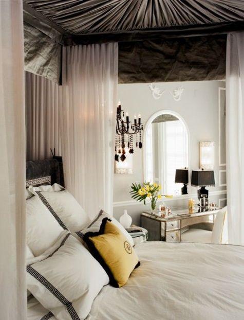 #yellow #gray #bedrooms