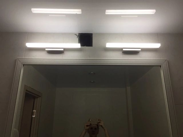 Nova promoção da loja estilo moderno montado na parede LEVOU lâmpada de parede espelho do banheiro luz Loja Online | aliexpress móvel