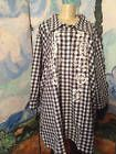 ♠} WOMAN #WITHIN PLUS 5X #NEW NAVY/WHITE CHECK BUTTON OVER-SIZED 3/4 SLEEVE TUNIC TOP http://ebay.to/2f71O9p