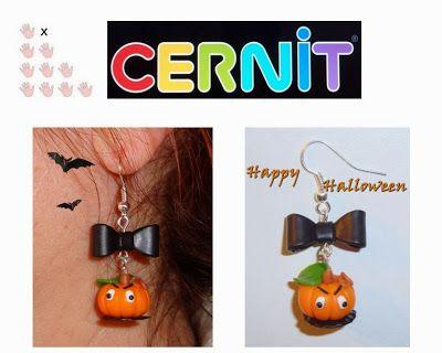 creativ art - hobby: Cercei din Cernit pentru Halloween.