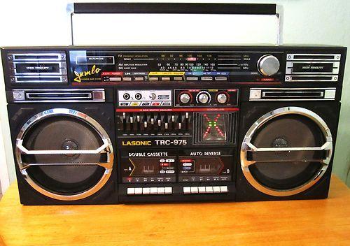 Rare Vintage LASONIC TRC-975 Huge GhettoBlaster Boombox Very Nice!