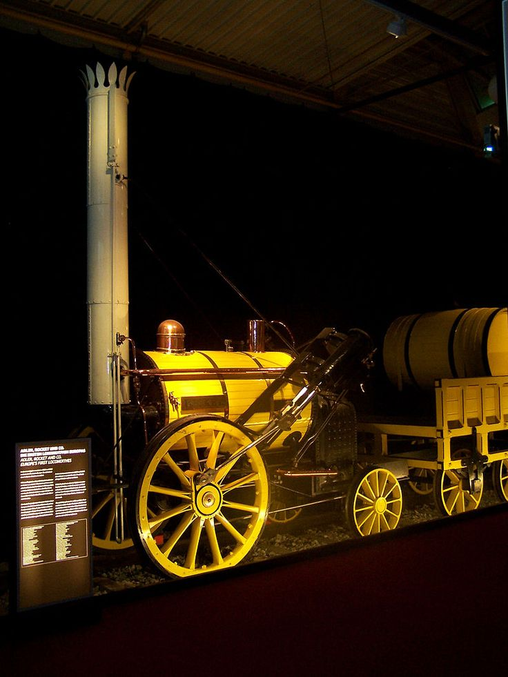 Rocket Verkehrsmuseum Nuernberg 12092010 side view - Stephenson's Rocket - Wikipedia, the free encyclopedia