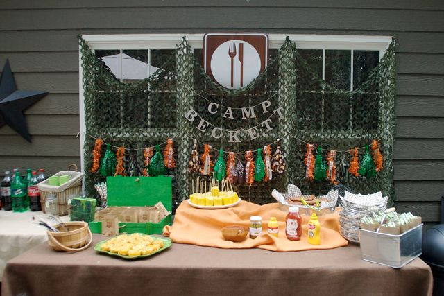 Great food table. Love the backdrop.Birthday Parties, Birthday Party Ideas, 1St Birthdays, Birthday 3Rd