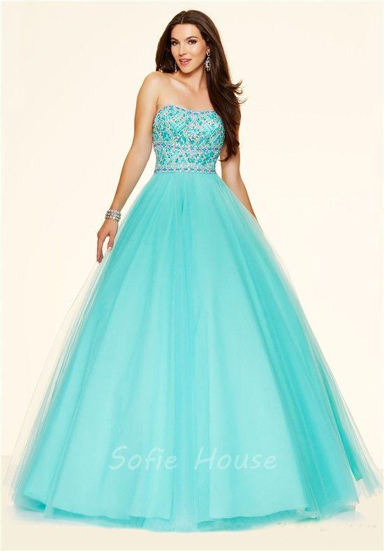 36 best Aqua Prom Dresses images on Pinterest