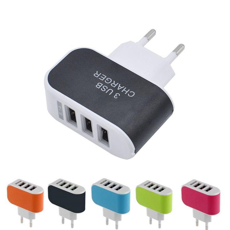 GETIHU 3 Porte USB 3A Caricatore Portatile Caricabatterie per Telefoni Cellulari viaggi caricatore della parete del usb per iphone samsung lg huawei xiaomi meizu