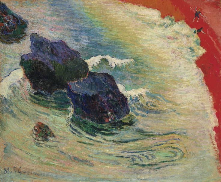 Eugène Henri Paul Gauguin (1848-1903) La Vague signed and dated 'P Gauguin 88.' (lower left) oil on canvas 23 ¾ x 28 5/8 in. (60.2 x 72.6 cm.) Painted in August-October 1888 Cristie's