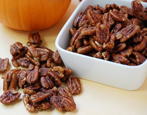 Maple Pumpkin Spice Pecans - Low Carb - use sugar free maple syrup