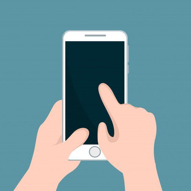 Persona Sosteniendo Telefono Celular Y A Premium Vector Freepik Vector Negocios Diseno Dibujos De Telefonos Cursos De Publicidad Telefonos Celulares