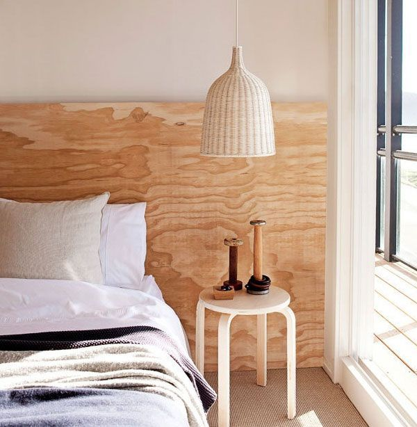 Plywood headboard.