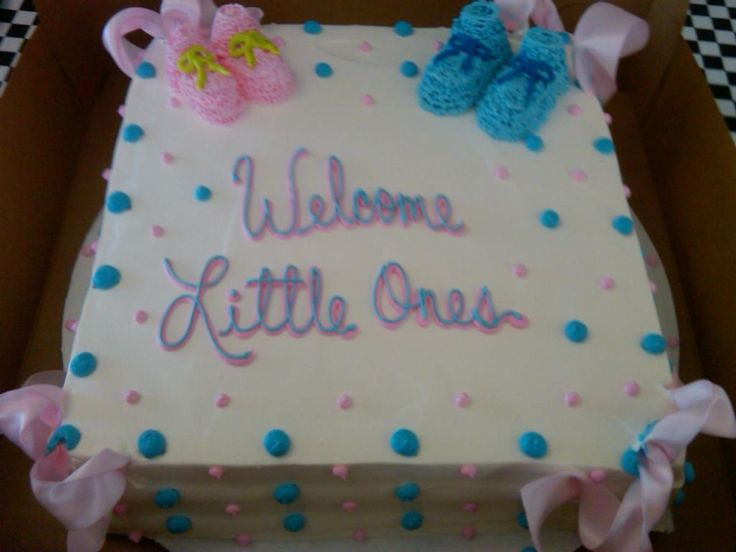 Image Result For Baby Shower Sheet Cakes For Twin Girls