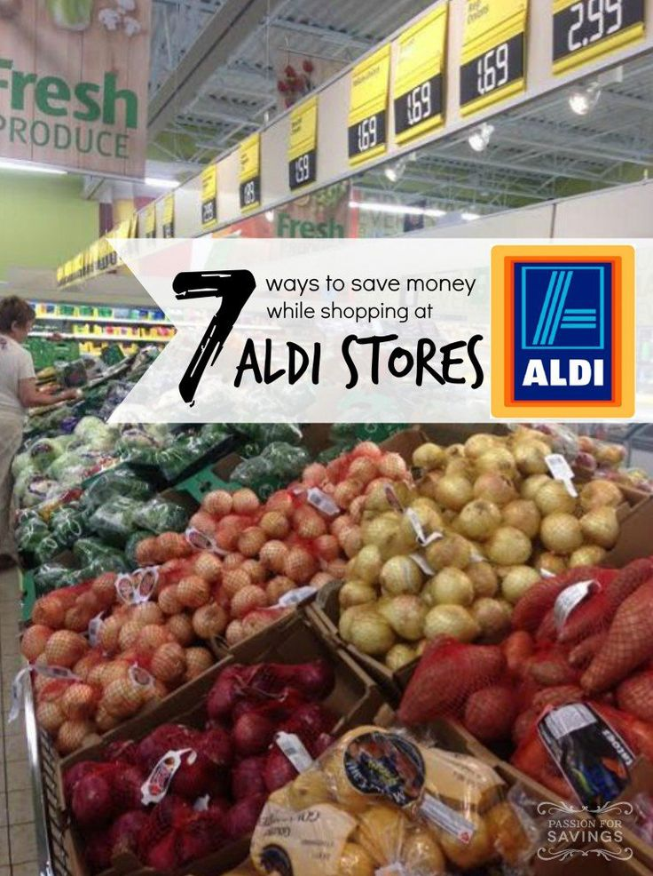 ways to save money shopping at aldi stores