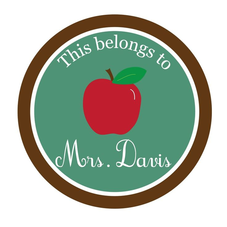 Personalized Sticker, teacher sticker, apple sticker, teacher gift, Personalized Stickers Set of 24 by simplysweetness on Etsy https://www.etsy.com/listing/216044718/personalized-sticker-teacher-sticker