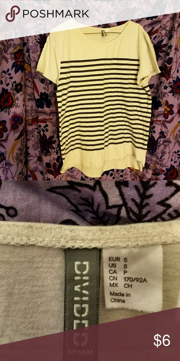 Mens small striped black and white t shirt H &M small t shirt black and white stripes. Nice condition H&M Shirts Tees - Short Sleeve