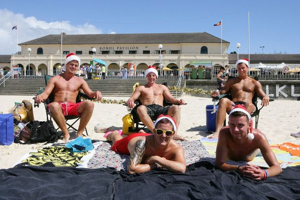 Australians Celebrate Christmas At Bondi Beach
