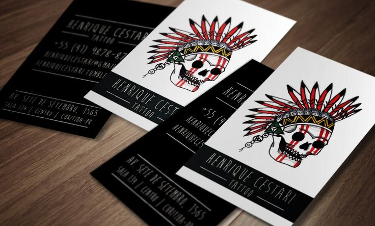 Business card tattoo artist Brazil
