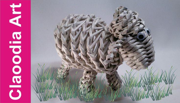 Bárány fonása                                         Baranek, owieczka z papierowej wikliny (lamb, sheep, wicker paper)