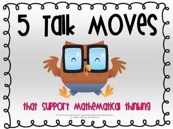 The five talk moves in the classroom include: Wait time, Repeating what someone else said in your own words, promoting student participation, and reasoning.