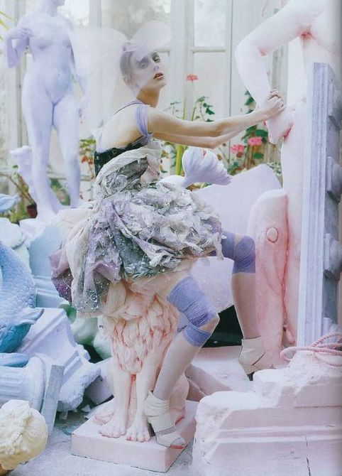"""Alice Gibb and Olga Sherer in """"A Magic World"""" for Vogue Italia January 2008 photographed by Tim Walker"""