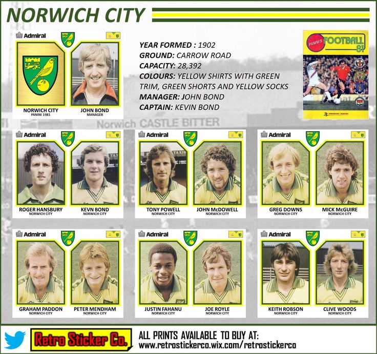 """Retro Sticker Co. on Twitter: """"NEW: Fascinating season @NorwichCityFC 1980/81. Hooked researching this today, currently writing a blog! @CanariesFC #ncfc @FootballInT80s https://t.co/dCVrLVdH8D"""""""
