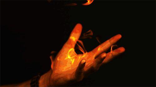 Cool fire effect,  looks like fire bender stuff. #avatar