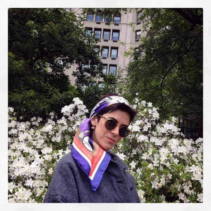 """""""Grecian in Constantinople"""" silk scarf by Grecian Chic at Central Park in New York City!"""