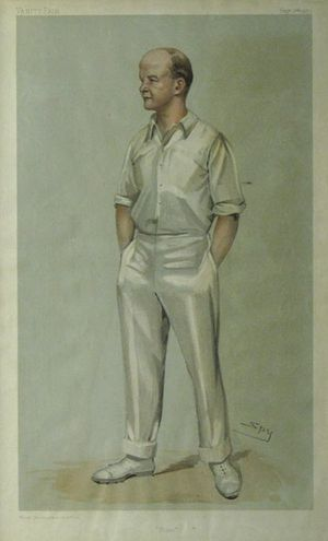 """Plum"" [Sir Pelham Francis Warner] by Spy [Sir Leslie Ward]"