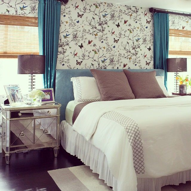 Design Award Winner Livelaughdecorate Incorporated Our Borghese Mirrored Side Chest Into This Clients Bright Bedroom