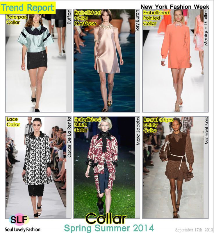 Collar Fashion Trend for Spring Summer 2014 at New York #Fashion Week #NYFW #Spring2014 #trend #trends