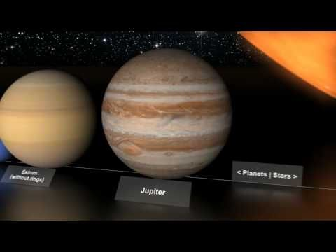 video on relative sizes of planets and stars -- pretty cool!