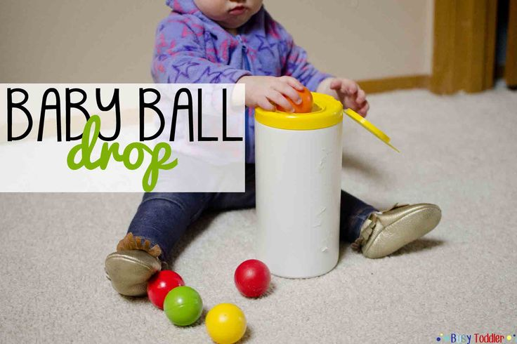 Create a simple play activity for your baby using an empty wipes container. Baby Ball Drop holds baby's attention and promotes great hand-eye skills.
