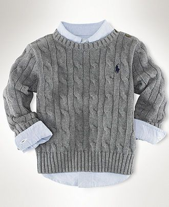 Ralph Lauren Baby Sweater, Baby Boys Classic Cable Crew Neck Sweater - Kids Baby Boy (0-24 months) - Macy's