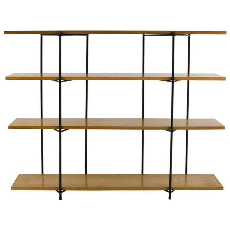 California Modernist Iron U0026 Wood Shelf 1950u0027s