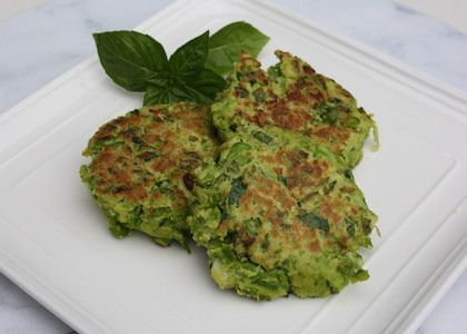 herbed pea fritters