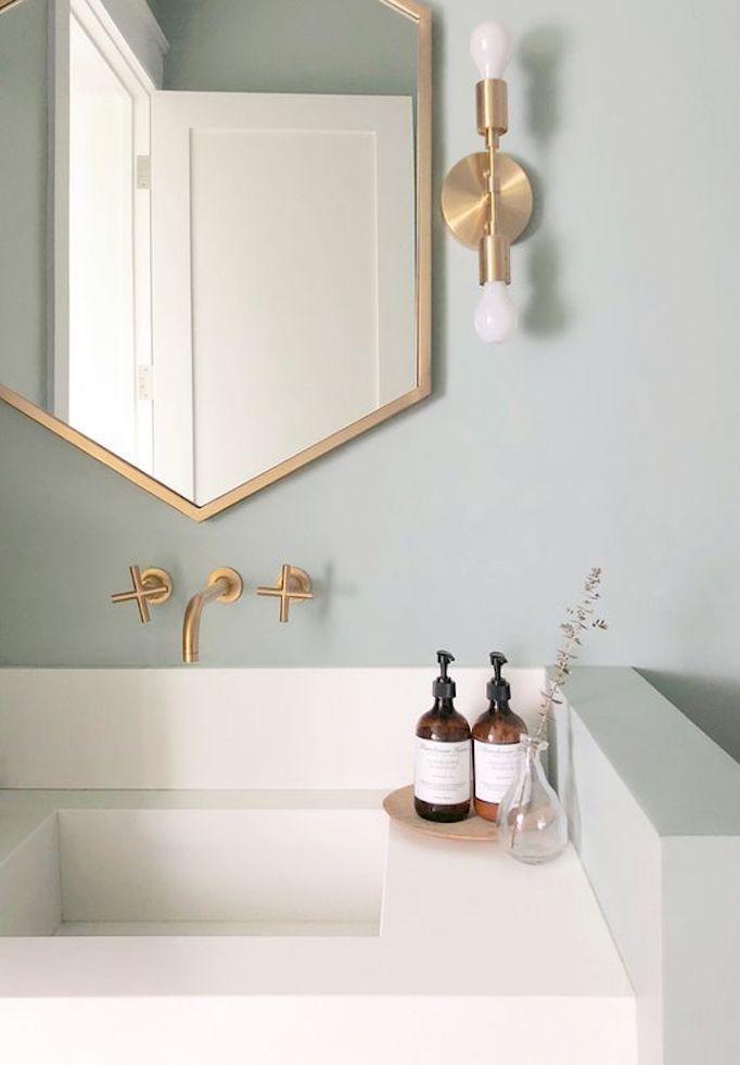 2018 Trend Sage Green Bathroomsbecki Owens With Images Green Bathroom Painting Bathroom Bathroom Styling