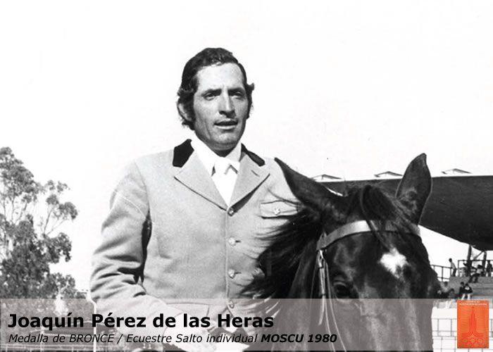 Joaquín Pérez de las Heras (México) bronce individual y por equipos montando a Alimony