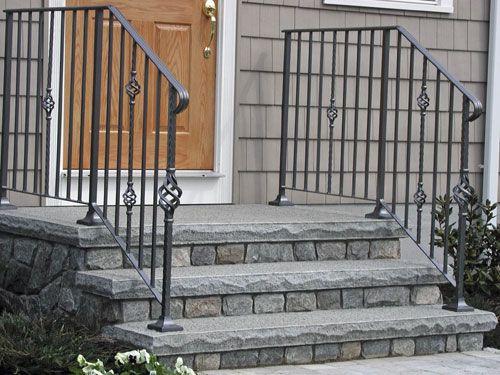 17 best ideas about concrete steps on pinterest solar for Concrete patio railing