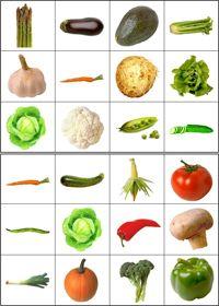 Lotto/bingo groenten