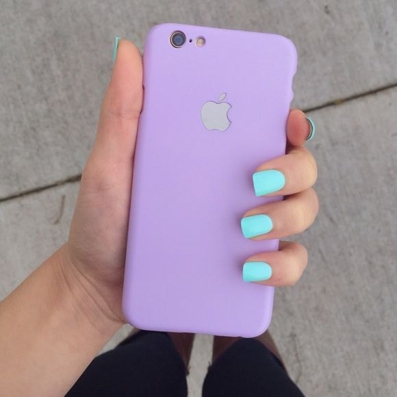 •pastel purple/lilac Apple logo iPhone 6/6s phone case   •hard plastic. VERY thin case to give the illusion that the case is the actual back of the phone. be VERY CAREFUL putting this case on because it could break  •Apple logo is silver, and is a mirror   •inside is just a piece of paper/sticker   •minor ripple on the phone case as shown in the 4th picture    •new without tags  •no trades  •not from listed brand