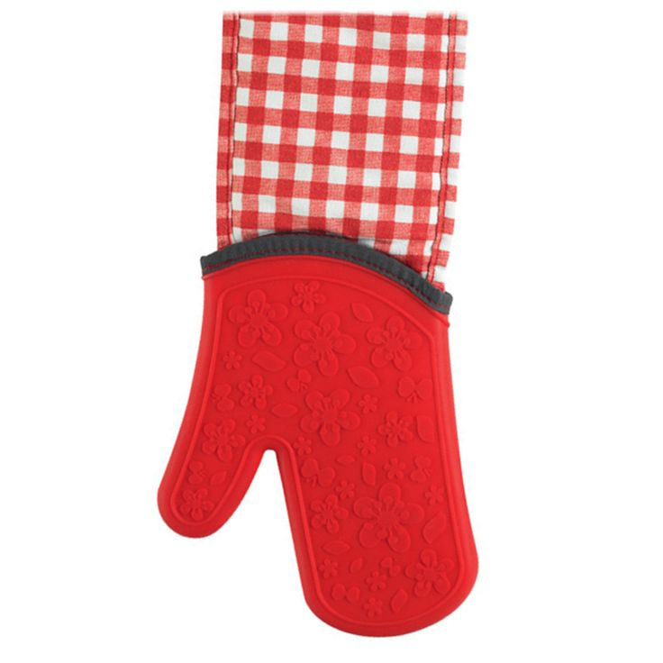 KITCHEN INNOVATIONS STEAM STOP WATERPROOF GINGHAM OVEN GLOVE