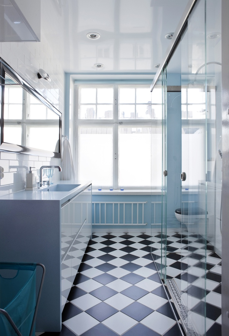 Durat vanity unit in a private bathroom, Finland