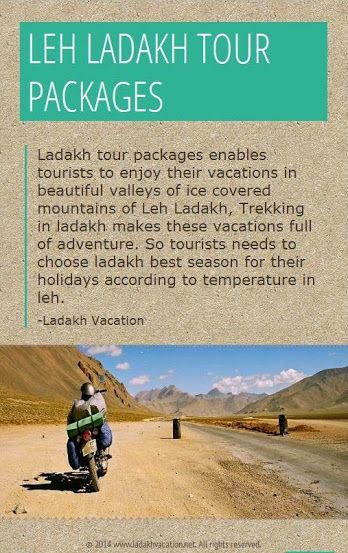 Enjoy Ladakh Trip by Bike with Ladakh Vacation, we provide leh ladakh bike trip and leh ladakh travel packages with full adventure activities.