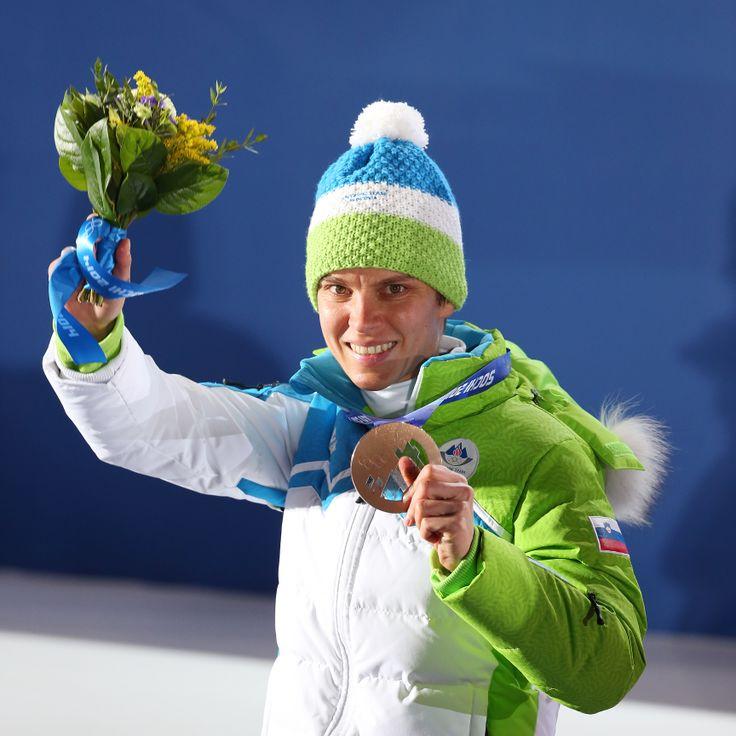 Vesna Fabjan, biathlon Bronze medal for Slovenia ;) #Sochi (photo: Aleš Fevžer)