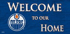 NHL - Welcome to our Home - Edmonton Oilers Wooden Sign