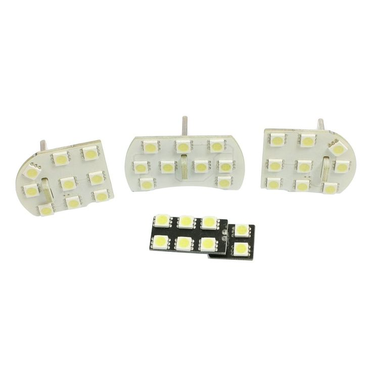 Unique Bargains 4 Pcs White 5050 SMD LED Car Licence Plate Dome Lamp Lights Bulbs