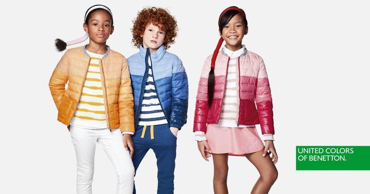 Regala a tus hijos un arcoíris de colores con las cazadoras ligeras de la colección United Colors of Benetton para la primavera de 2017.