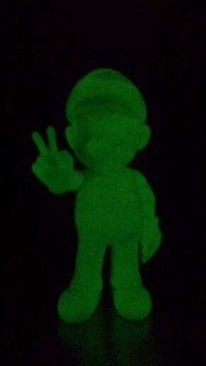 #mario glow in the dark #3dprint #ultimaker www.3drucken.ch