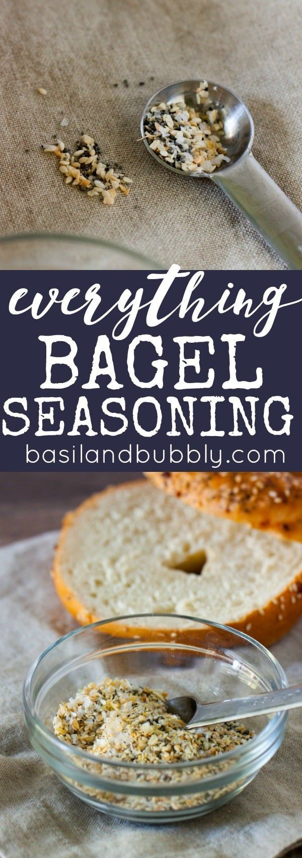 I put this homemade everything bagel seasoning mix on EVERYTHING. Such a great, cheap alternative / copycat to store bought.