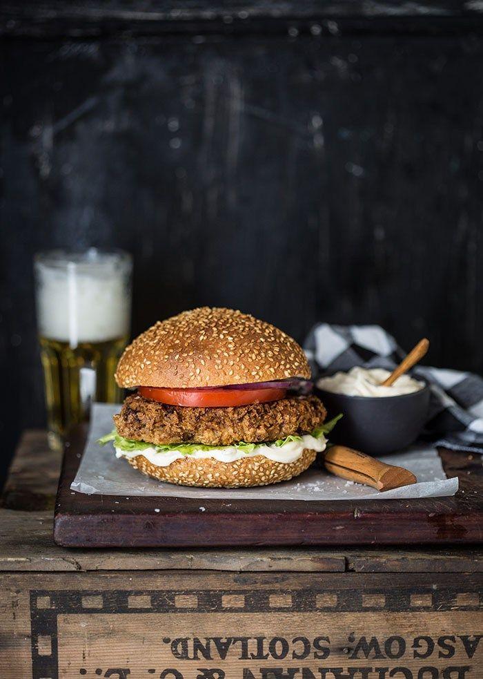 The crunchiest jerk chicken burger