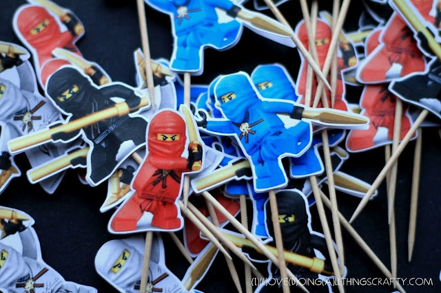 Ninjago Cupcake Toppers - Free Print and Cut Silhouette File - Cut on the Silhouette Cameo