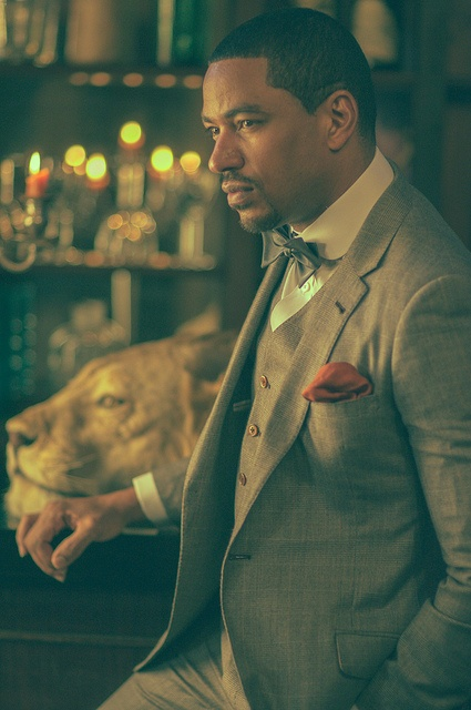 Most Interesting Man In The World. Laz Alonso. DIOR HOMME SIZE 38 - 42 / SUIT 48 VINTAGE & EXPENSIVE BY: ALEXANDER V WESLEY